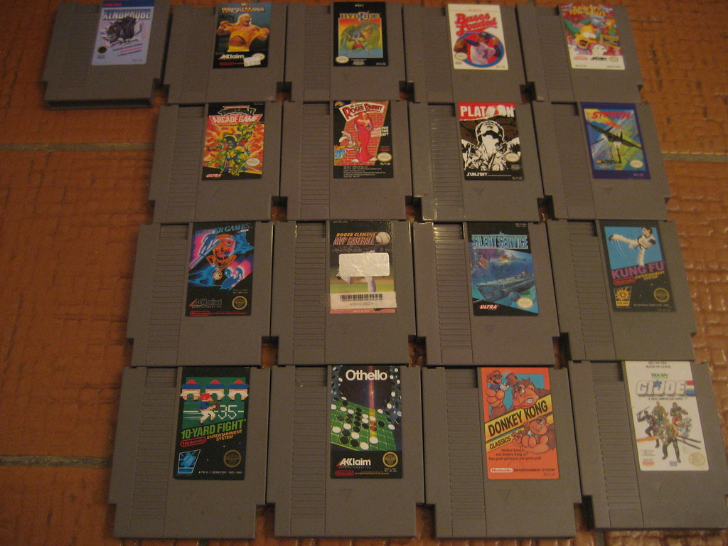 Lot of NES games for sale   Xenophobe Wrestlemania Hydlide B