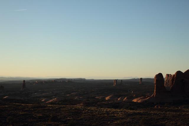 Sunset near Windows - Arches National Park, Utah