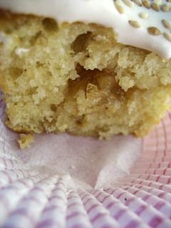 Burnt Honey Sesame Cupcake with Sour Lemon Marmalade