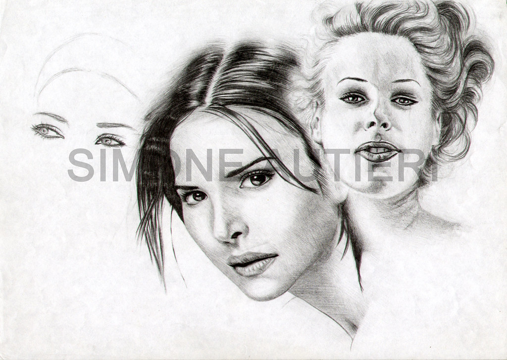 Volti Di Donna Disegno Di Simone Autieri Caratteristiche D Flickr