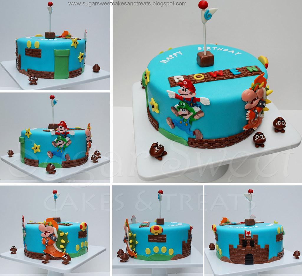 2010 08 Super Mario Bros Bowser Mushroom Castle Goomba Cak