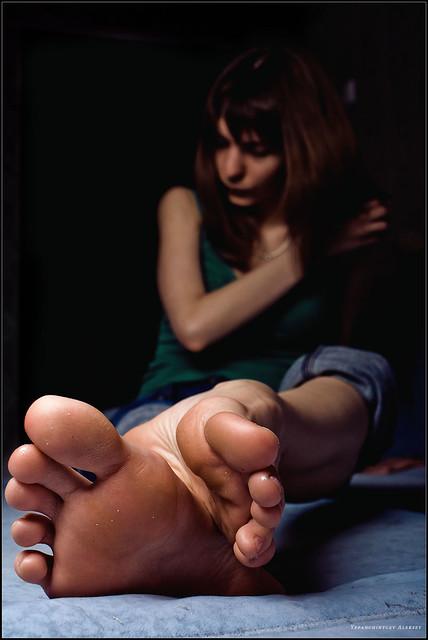Beautiful young girl's feet