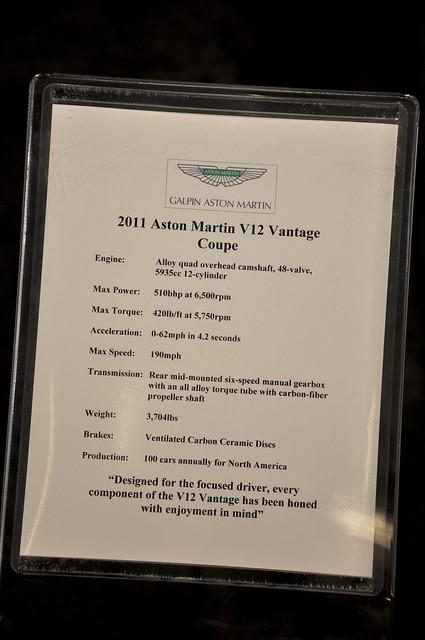 Aston Martin Vantage info