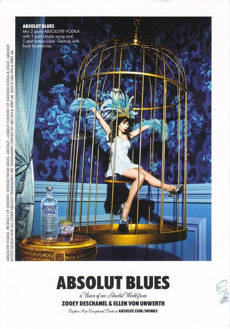 ABSOLUT BLUES Postcard