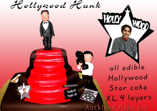 HOLLYWOOD HUNK RED CARPET BIRTHDAY CAKE