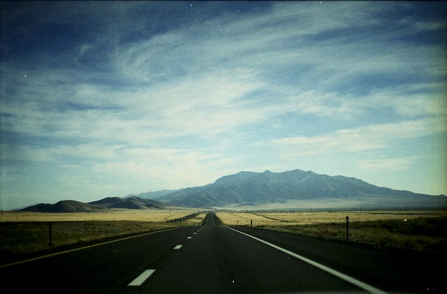 I drove across country.