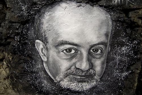 Nassim Nicholas Taleb painted portrait - 'black swan theory' _DDC0525