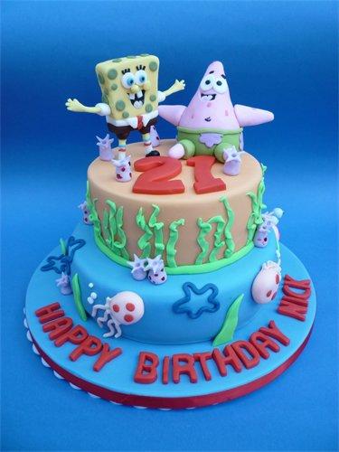 Remarkable Spongebob Squarepants Birthday Cake Debbie Cowley Flickr Birthday Cards Printable Inklcafe Filternl