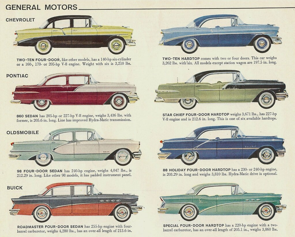 1956 G M  cars I | My favorite chevy color combination