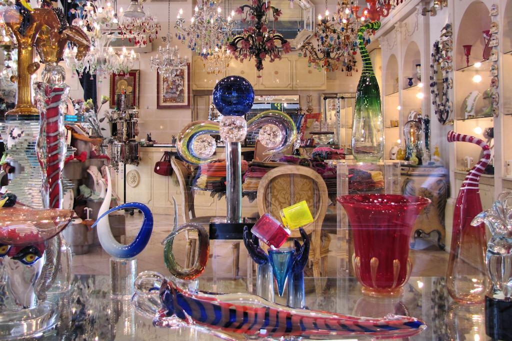 Venice, Italy, Murano Glass Store Window