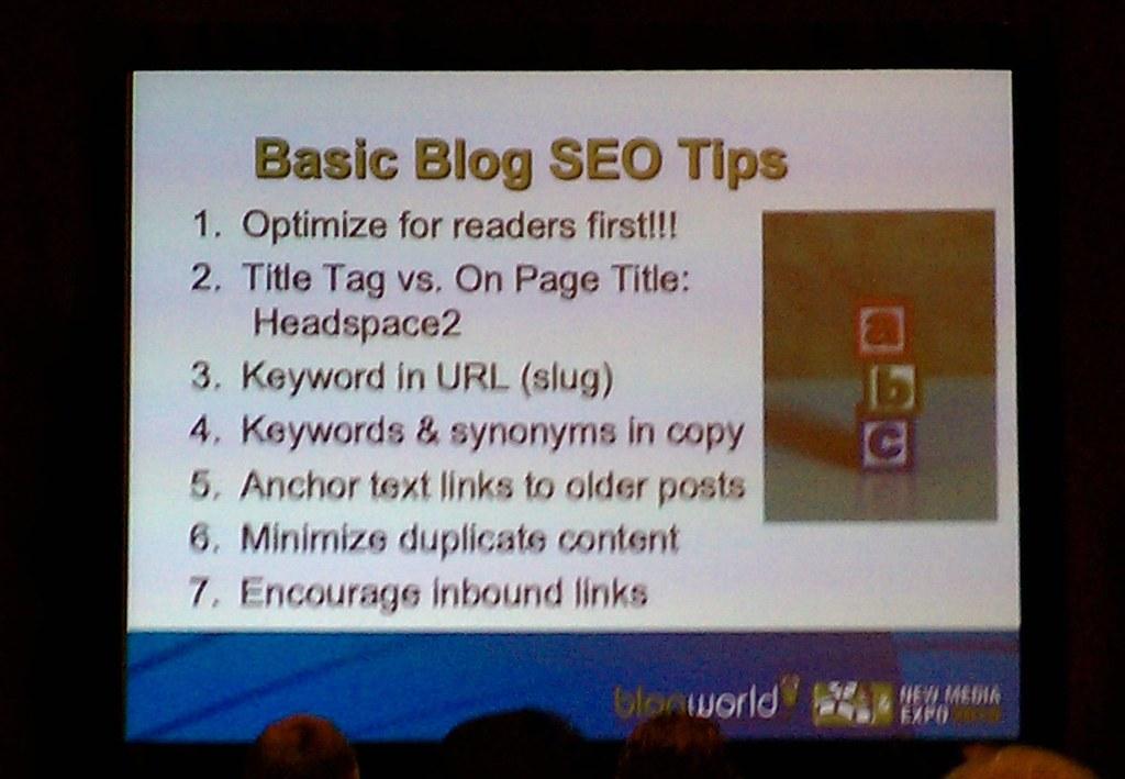 SEO tips from BlogWorld 2010