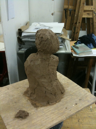 Early days at sculpture class | by Sharon Pavey