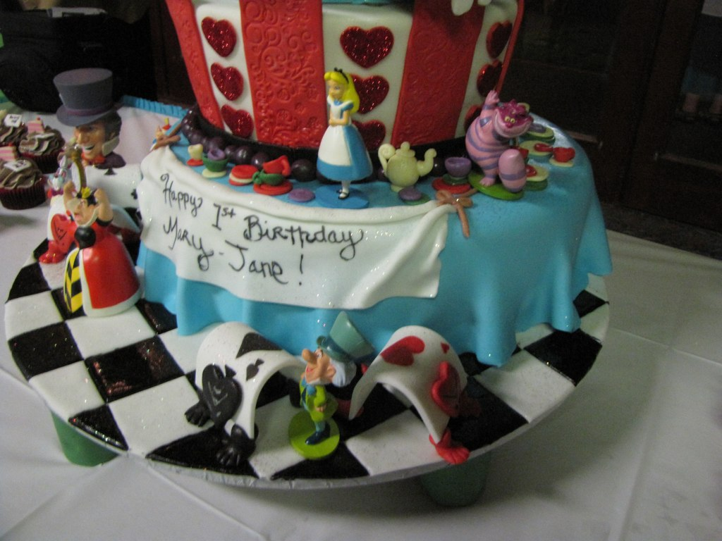 Brilliant Alice In Wonderland Birthday Cake Artisancakecompany Flickr Personalised Birthday Cards Cominlily Jamesorg