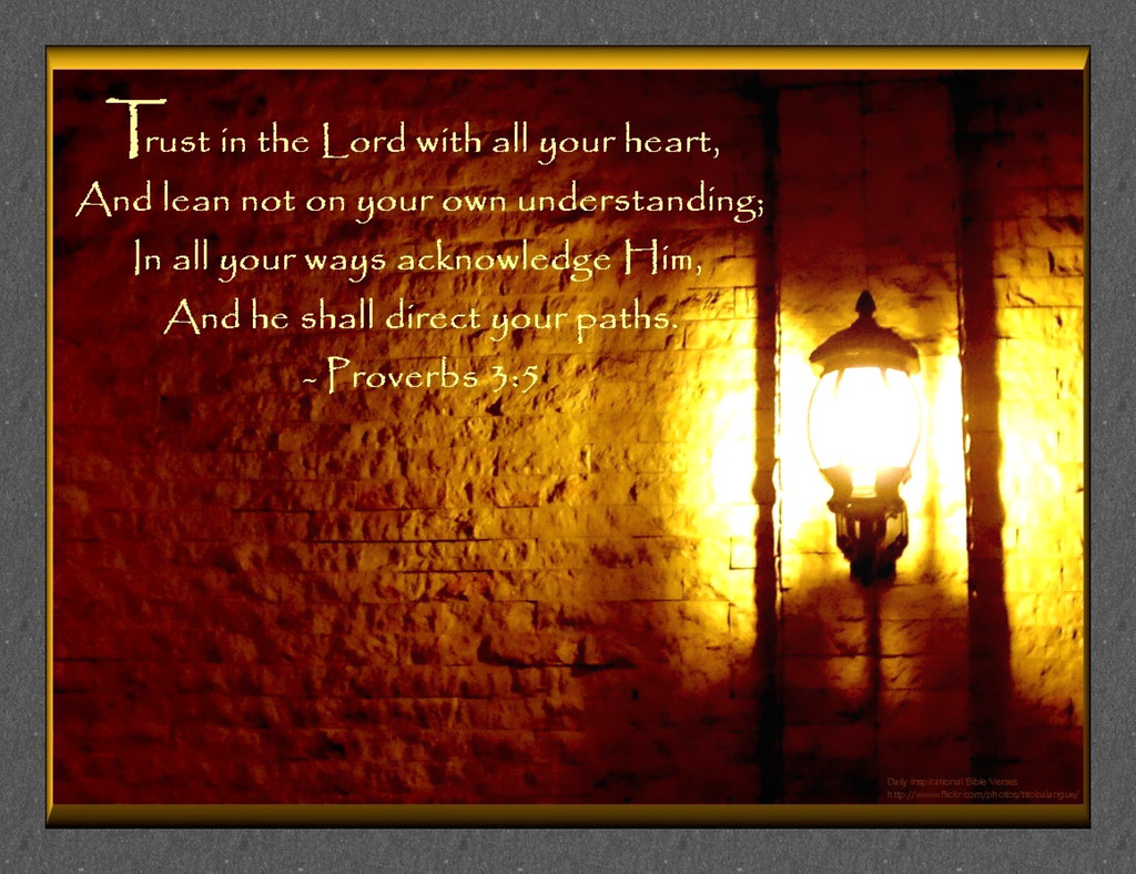 39: Daily Inspirational Bible Verse | Proverbs 3:5