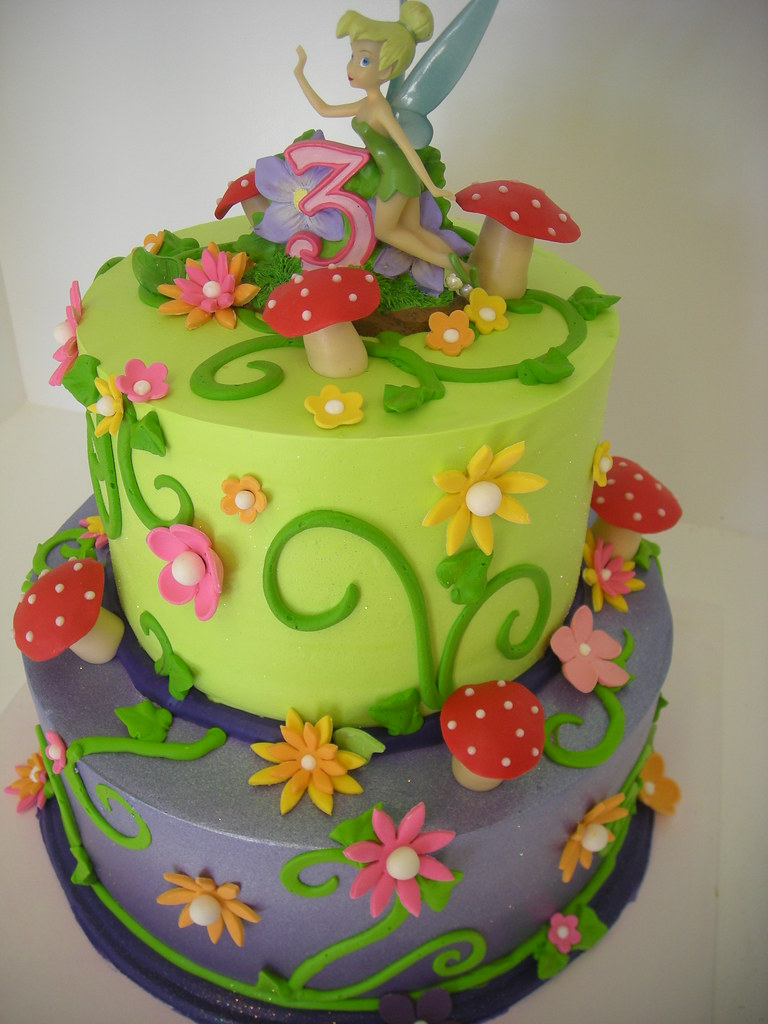 Pleasing Tinkerbell Birthday Cake 535 Asweetdesign Info Flickr Personalised Birthday Cards Cominlily Jamesorg