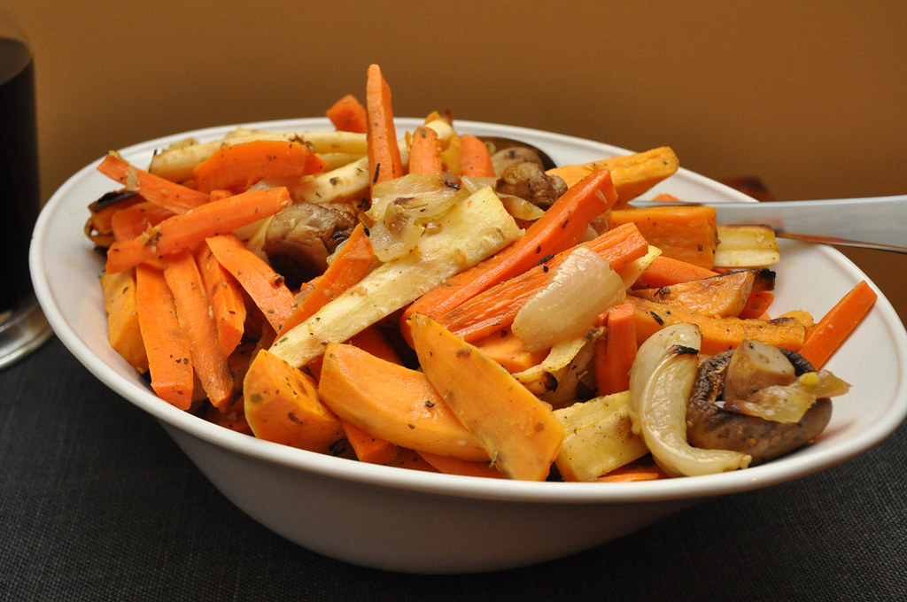 Roasted Root Vegetables Served In A Simon Pearce Cavendish Flickr