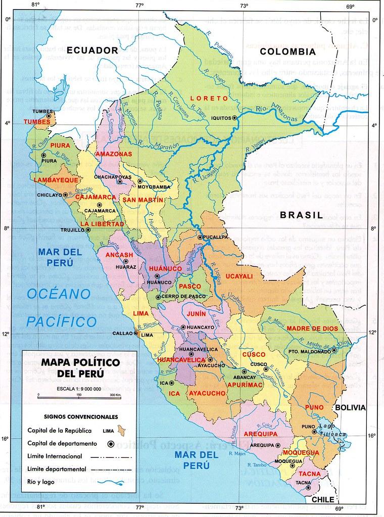Mapa Politico Del Peru.Mapa Politico Del Peru Econciencia Peru1 Flickr