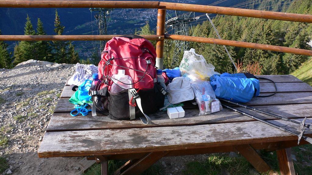 My rucksack unpacked