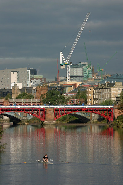 Rowing on the River Clyde,  Glasgow,  Scotland