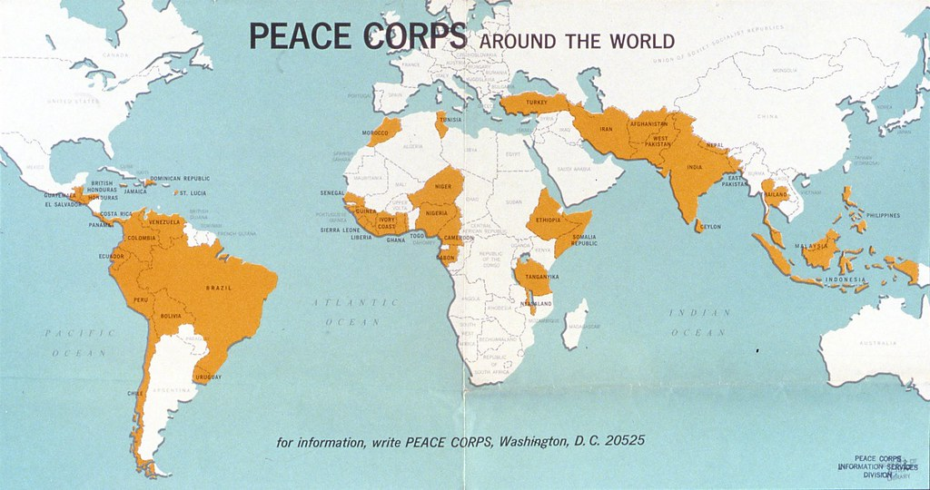 Peace Corps Map Peace Corps around the World (map) | RPCVHI | Flickr