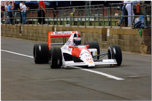 Gerhard Berger Mclaren Honda MP4/5 F1. 1990 British GP Test Silverstone