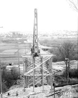 45th Street Viaduct under construction, 1939