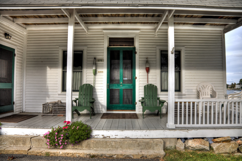 On the Porch in New Castle by Philip Case Cohen
