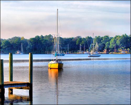 florida sailboats panamacity tonemapping nikond40x watsonbayou corelpaintshopphotoprox3 nikkor70300afsvrlens