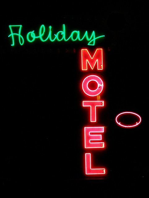 IN, Jeffersonville-IN 62(Old) Holiday Motel Neon Sign