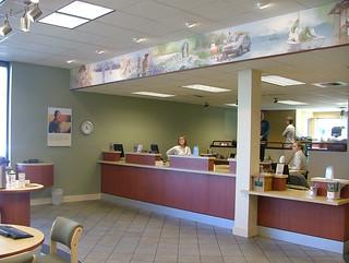 AFTER Interior Bank Décor | Bank Teller Design | Custom Bank Wall Mural | Venture Bank | by I-5 Design & Manufacture