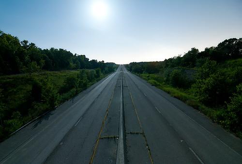 abandoned night highway interstate 44 i44