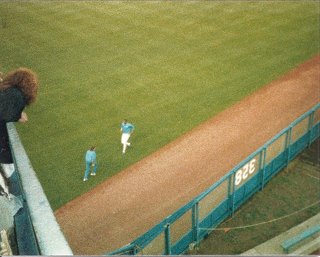 Doc jogs in the outfield