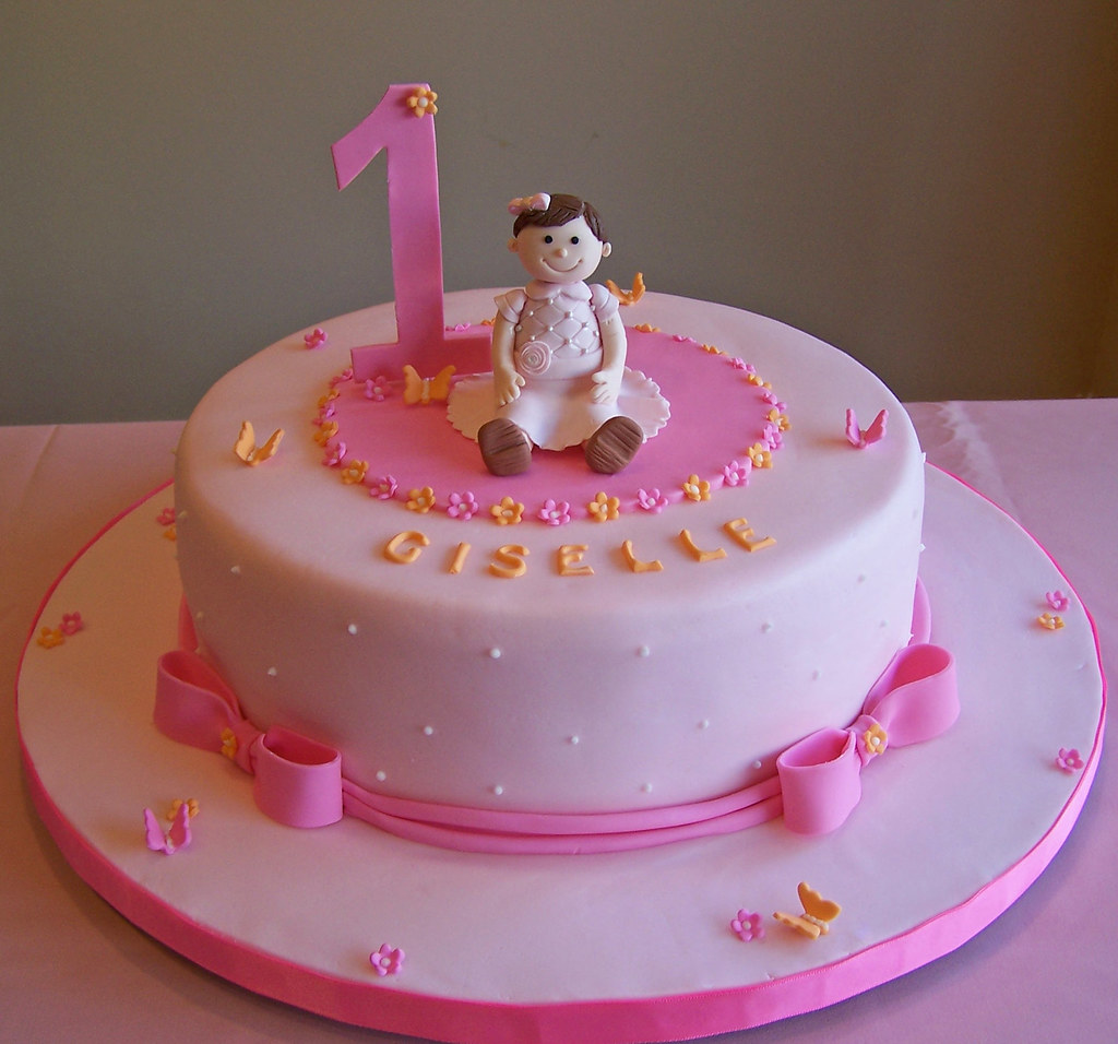Super First Birthday Cake Little Girl 10 Cake Beth Flickr Funny Birthday Cards Online Alyptdamsfinfo