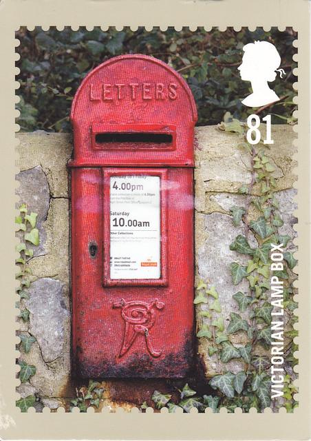 PHQ Victorian Lamp Box Postcard