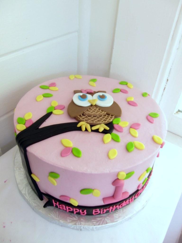 Miraculous Owl Birthday Cake Polkadots Olga Flickr Funny Birthday Cards Online Fluifree Goldxyz