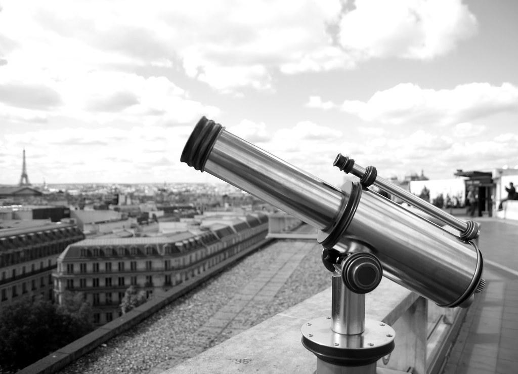 Le Télescope De Devises Terraza De Las Galerías Lafayette