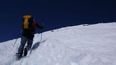 Svah nebyl moc srtmý, sníh byl měkký akorát, nebezpečí pádu nehrozilo.