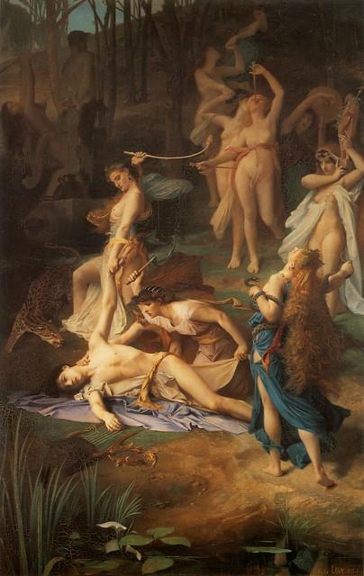 +1866 Ménades despedazan a Orfeo
