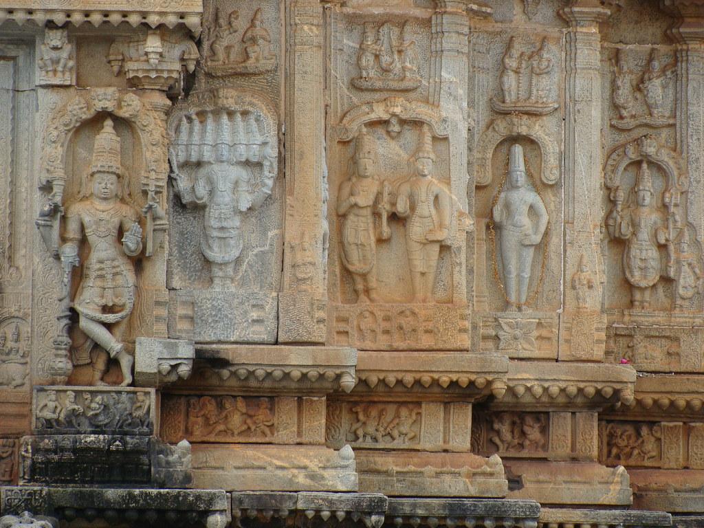 Vidyasankara Temple, Sringeri (2) | Stone work on the outer … | Flickr