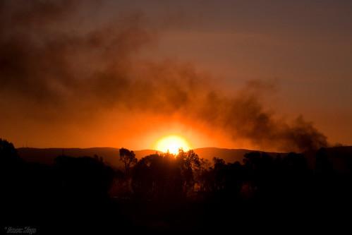 africa sunset red sky sun nature canon southafrica scenery dusk smoke pretoria gauteng mahem 450d canon450d hannessteyn eosdigitalrebelxsi canonefs18200mmf3556is