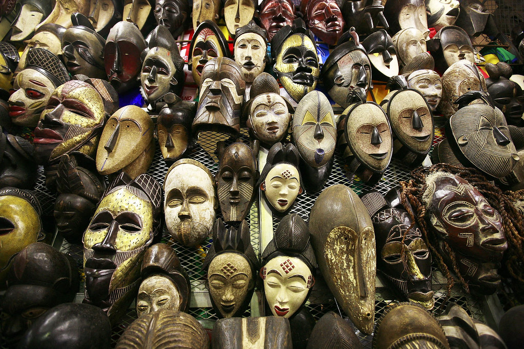 African Masks | The sign at the market read: This Is Africa,… | Flickr