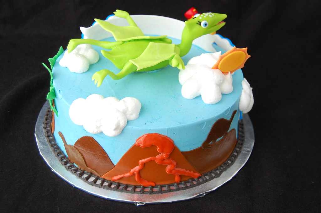 Swell Dinosaur Train Birthday Cake Rear Charmchang Flickr Funny Birthday Cards Online Alyptdamsfinfo