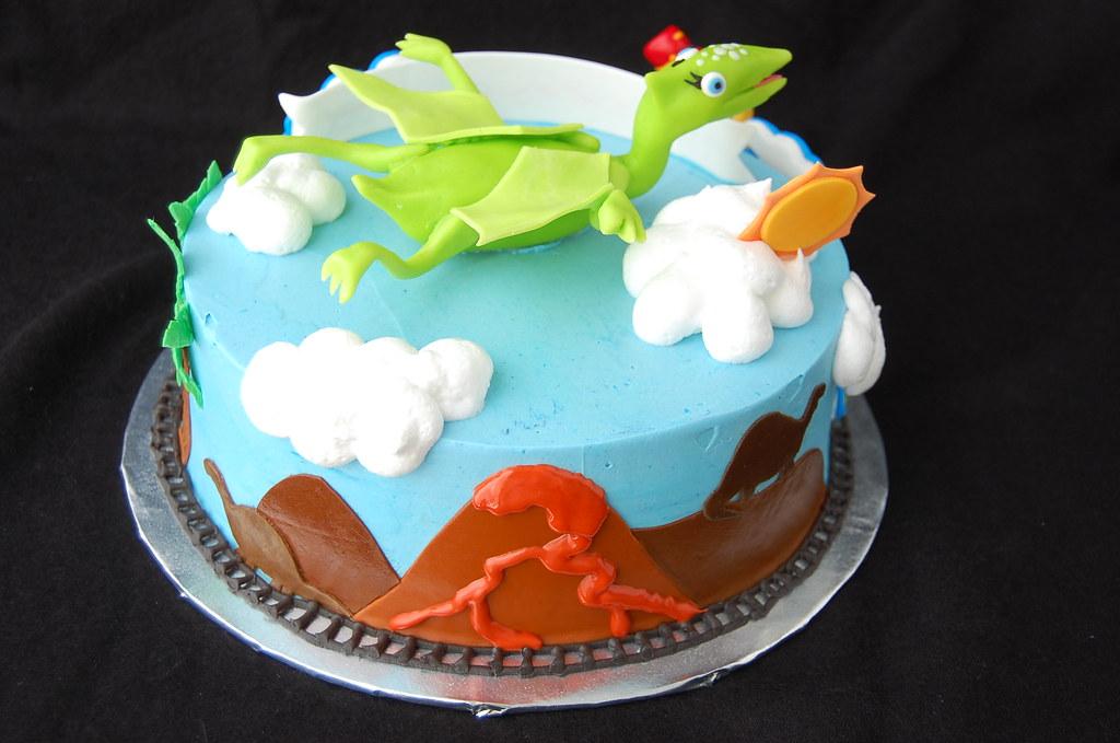 Phenomenal Dinosaur Train Birthday Cake Rear Charmchang Flickr Personalised Birthday Cards Veneteletsinfo
