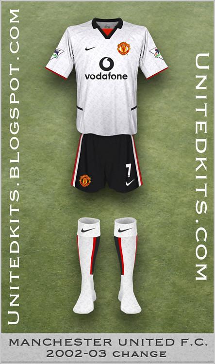 buy popular b32b0 9ac57 Manchester United 2002-03 Change kit   Tim   Flickr