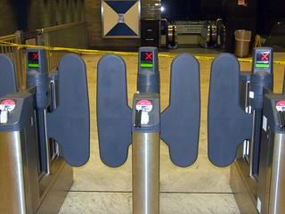 Muni New Faregates - Civic Center Station Secondary Gates
