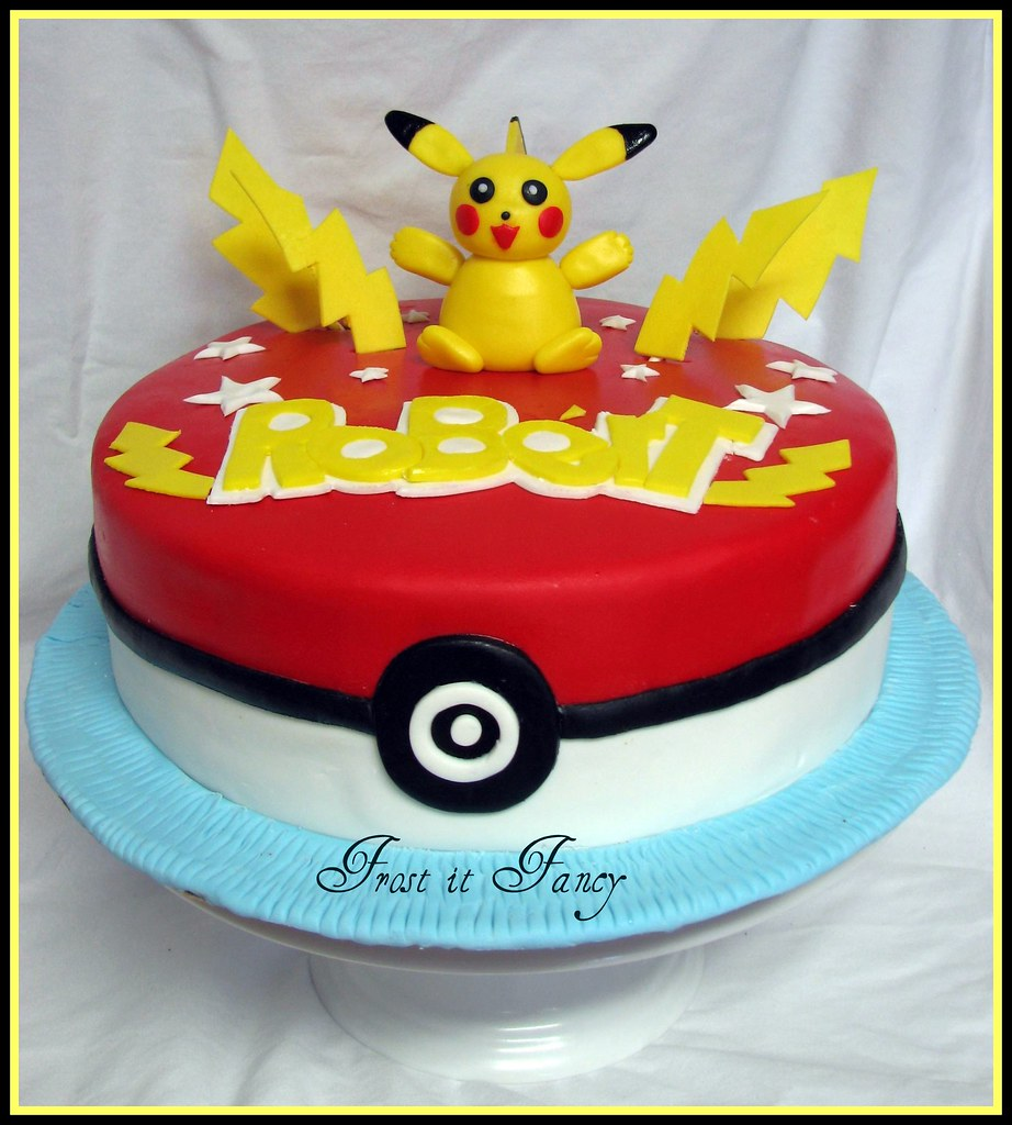 Miraculous Pokemon Birthday Cake I Made This Cake For A Very Special Flickr Funny Birthday Cards Online Alyptdamsfinfo