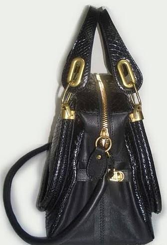 47cf4fa9500 ... fake Chloe Paraty python bag black3