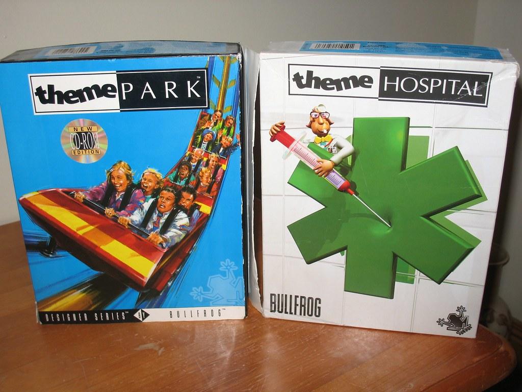 Retro Bullfrog PC games (retail boxes) - Theme Park & Theme Hospital