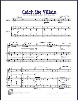 Catch the Villain   Free Sheet Music for Easy Violin Solo   Flickr