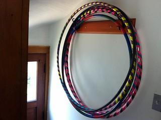 Hoop storage in the back hall
